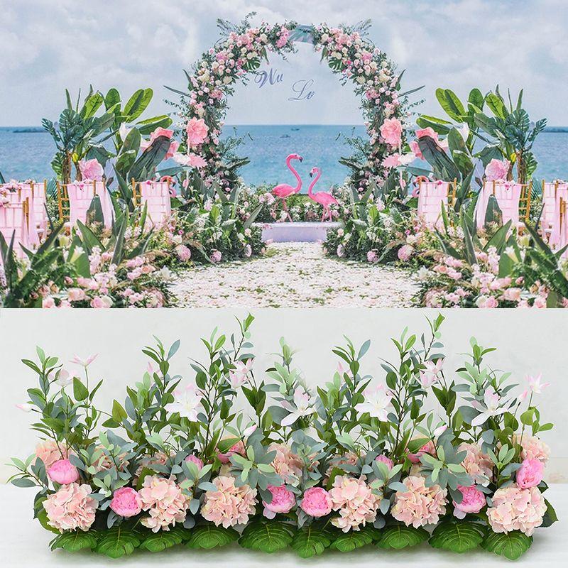 محاكاة روز الزفاف الديكور قوس زهرة الجدار diy المنزل خلفية الديكور الحرير فلور ترتيب الاصطناعي زهرة إكليل