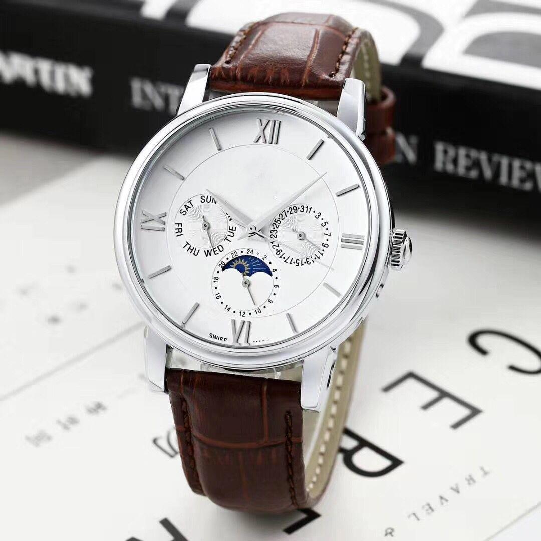 2020 Todos los sub-esferas trabajo leiseure para hombre o mujer Stass de acero del cuarzo de pulsera reloj cronómetro reloj Top relogies Relojes mejor regalo