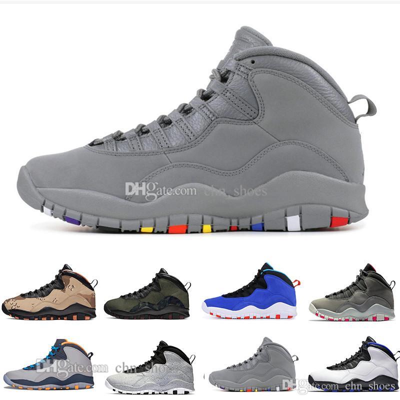 2019 Scarpe da basket Desert Camo 10s Woodland Orland Cement 10 Westbrook I'm back Dark Smoke Grey Steel Grey Sneakers sportive uomo 40-47