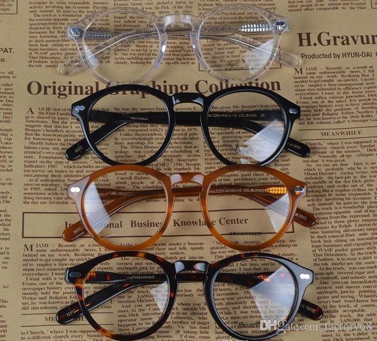 Nuevo diseño retro vintage marca miltzen johnny depp gafas graduadas gafas ópticas montura de gafas envío gratis