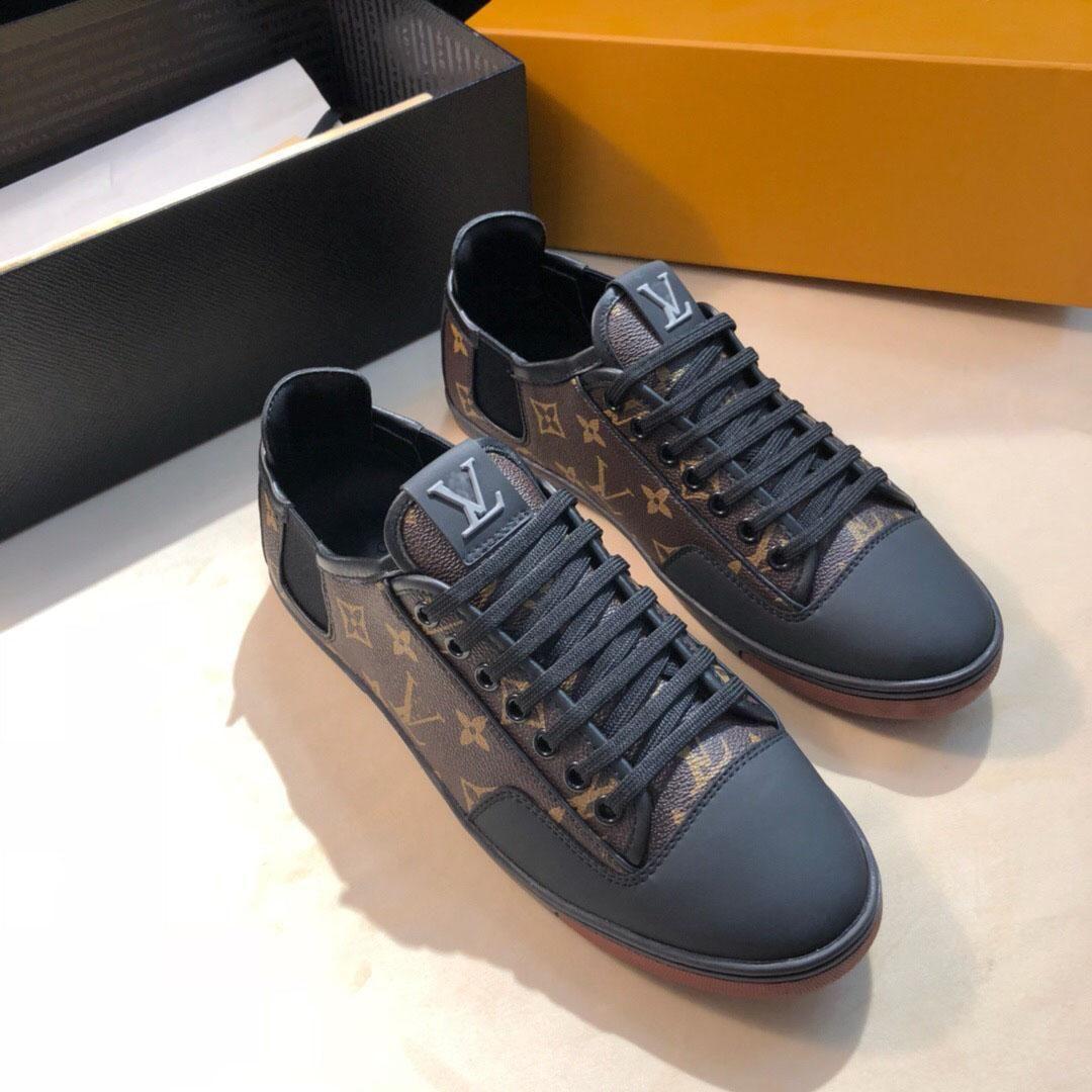 2020 neue Mode Männer Luxus-Sportfreizeitschuhe Schuhe hochwertige Luxus-Mode-Ledersportschuhe Größe 38-45 1102