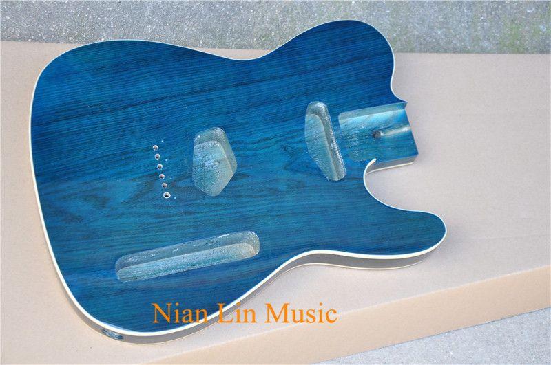 الكتريك جيتار الجسم مع ألدر الخشب الجسم، اللون الأزرق، الأبيض وتجليد ويمكن حسب الطلب وطلب شبه المصنعة