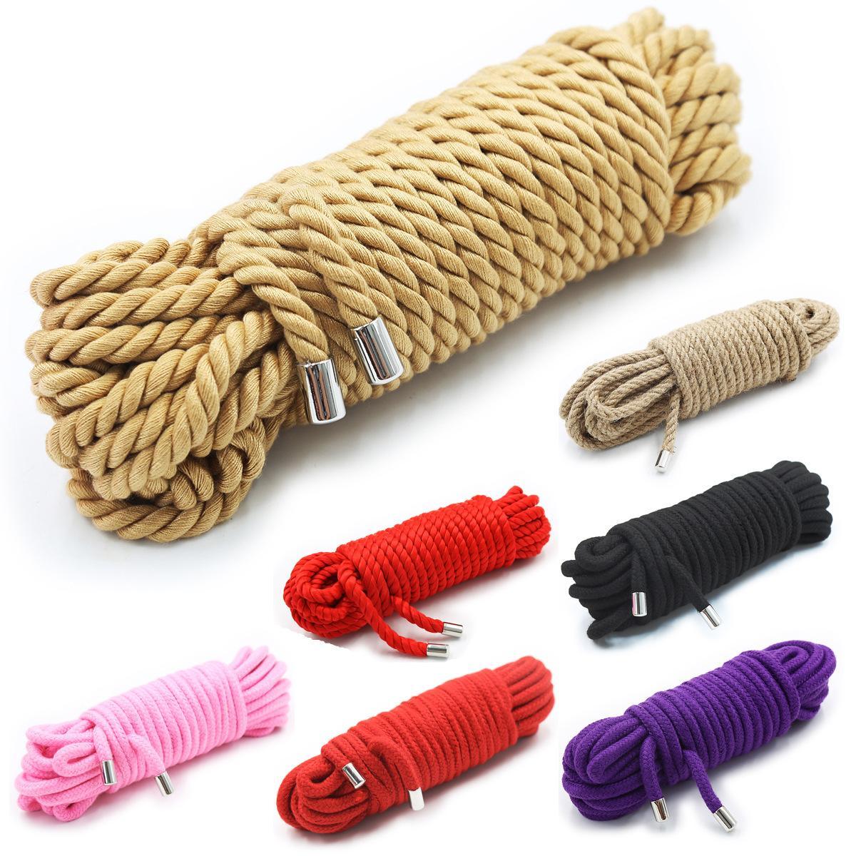 Hem Rope Starter Kit-naturale / guinzagli, 20m Bondage Tie / restrizioni Binder Restraint Per Schiavo Giochi di Ruolo, Erotic Shibari accessori per toccare Tie U