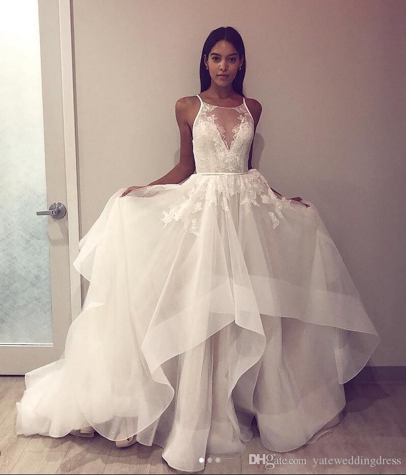Acheter Simple Une Ligne Plage Robes De Marié