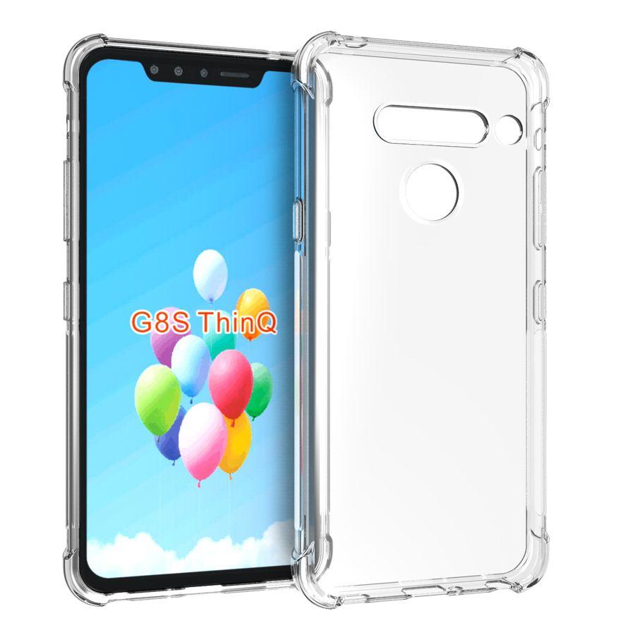 Cubierta cristalina transparente delgada Anti Slip protectora suave del teléfono de TPU para LG G8S G8X Thinq, V50 Q60 K50 K50S K40 K30 K20 K40S 2019 W30 W10