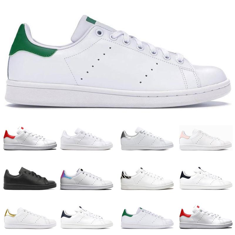 cheap smith shoes mens womens sneakers black white rainbow silver red navy bule green gold stan fashion outdoor sports trainers size 36-44