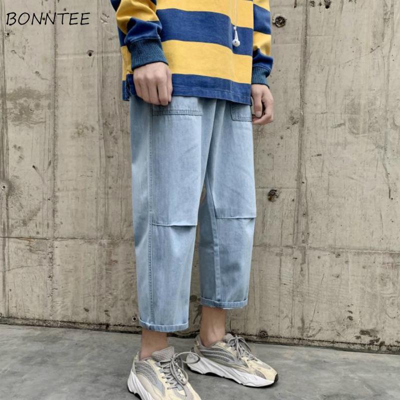 Kot Erkekler Ayak bileği uzunlukta Artı boyutu 2XL Yeni Retro Moda Günlük Streetwear Kore Stil Harajuku Gevşek Öğrenci All-maç