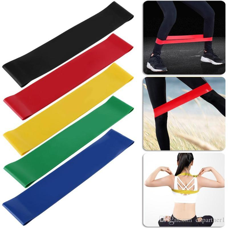 en stock banda de resistencia de látex natural bucle musculación ejercicio físico de alta tensión muscular gimnasio en casa para entrenamiento de pesas de tobillo de pierna