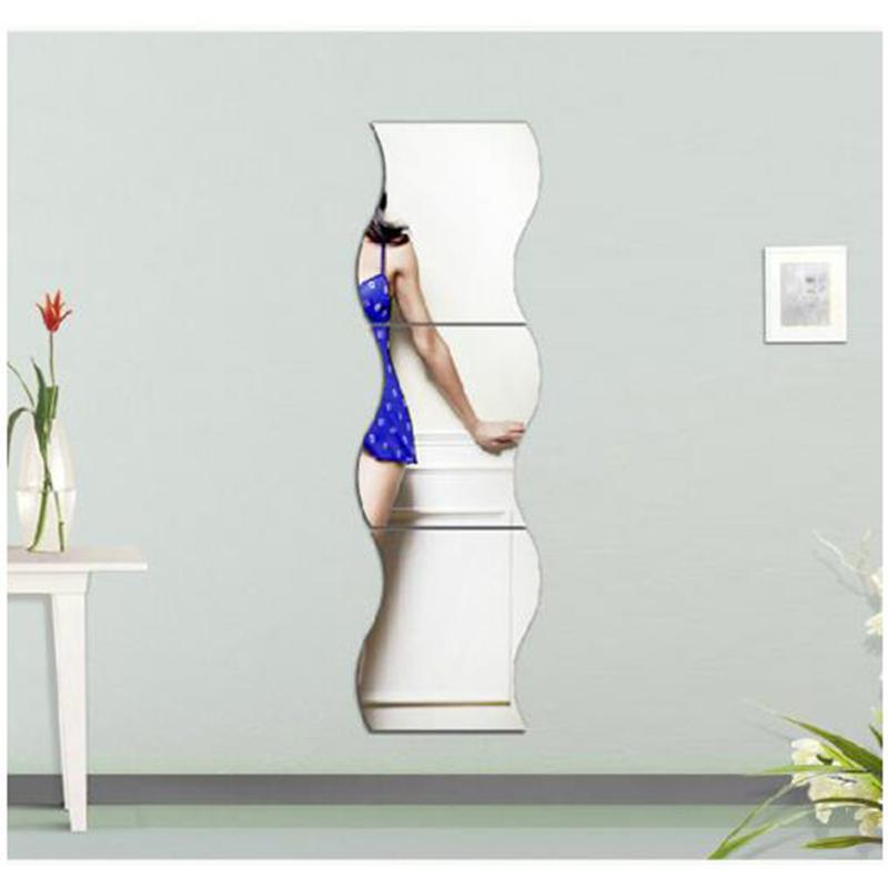 Acrylique miroir combinaison miroir décoratif salon salles de bain décoration décoratif décoration accessoires de décoration