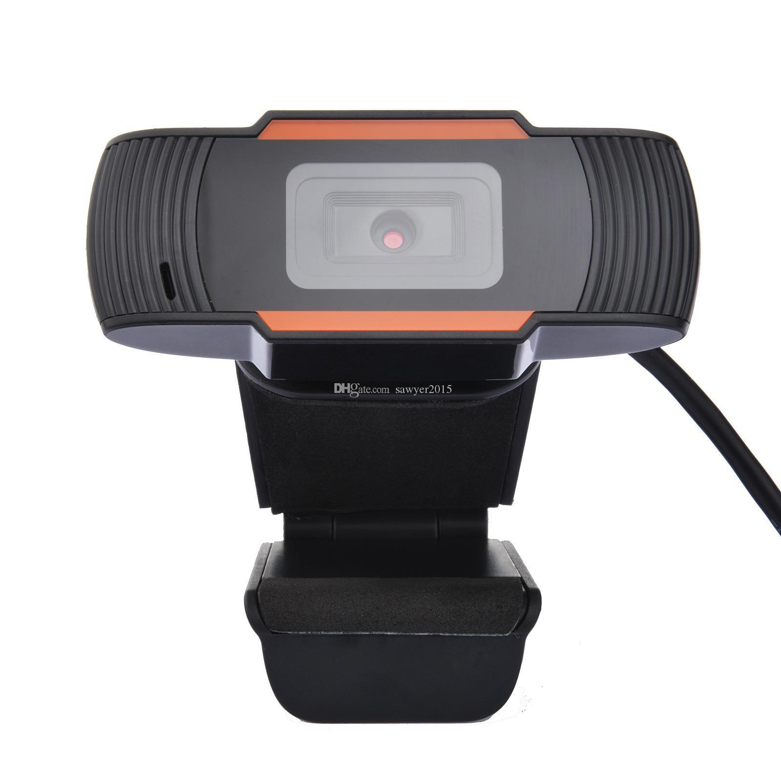 HD 720P USB Webcam Mini Компьютер компьютер PC WebCamera 30 градусов Rotatable USB-камера для живой вещательной видеоконференции