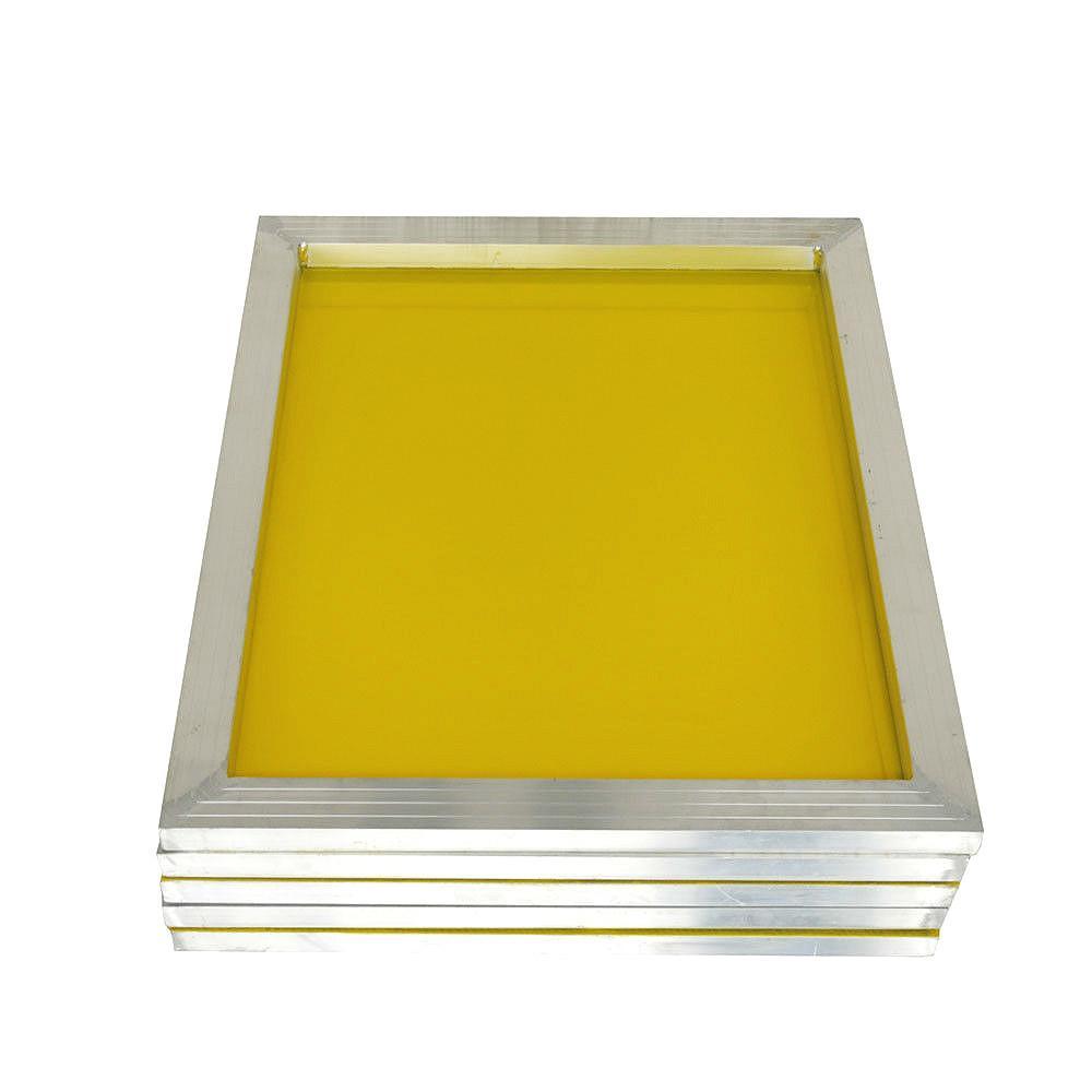 Alumínio 43 * 31 centímetros Serigrafia moldura esticada Com Branco 120T Imprimir Silk Polyester Amarelo Mesh para Printed Circuit Board T200522