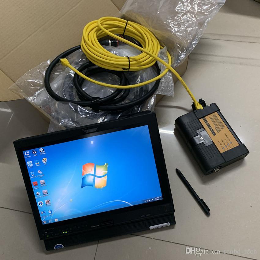 BMW 진단 도구 ICOM A2 레노버 씽크 패드 x201t i7의 PCU를위한 노트북을 사용할 준비가 최신 하드 디스크 500 기가 바이트 4g 램