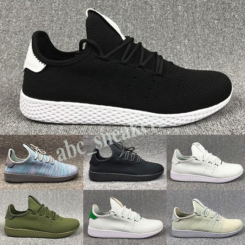 Adidas Tennis HU Новое поступление Pharrell Williams x Stan Smith HU Primeknit теннис мужская обувь Женские кроссовки спортивная обувь дышащая EUR 36-45 b03