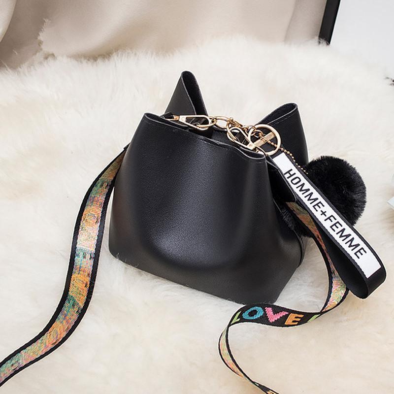 di DOLOVE Mini Estate benna borsa delle donne della Borsa 2020 nuovo modo di estate Piccolo spalla larga cinghia diagonale Lana Messenger Bag