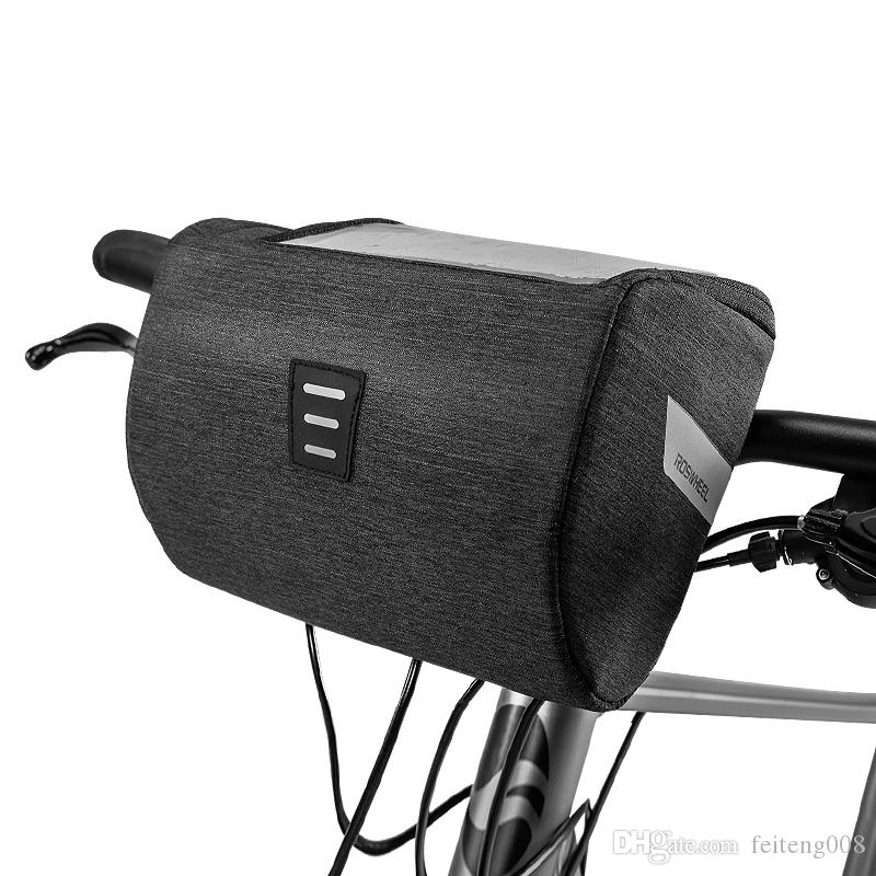 ROSWHEEL Mountain Road 111467 Water Resistant Touchscreen Cycling Bike Bicycle Handlebar Bag For Map or Mobile Cell Phone #122093