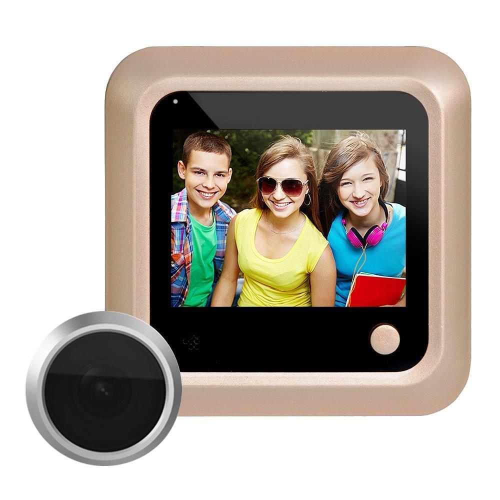 X5 2.4 بوصة شاشة 2.0MP كاميرا الأمن لا الإزعاج ثقب الباب عارض، ودعم بطاقة TF