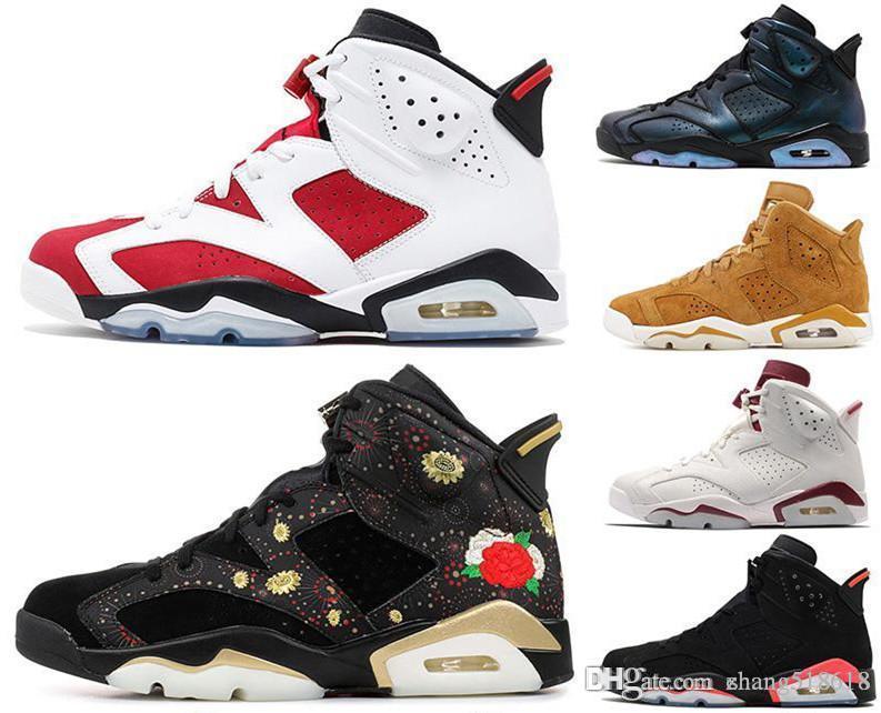 New Bred Hommes 6 6 s Chaussures de basket-ball bricoler UNC Noir Chat blanc infrarouge rouge carmin Mens Designer formateur Sport Sneaker taille US7-US13