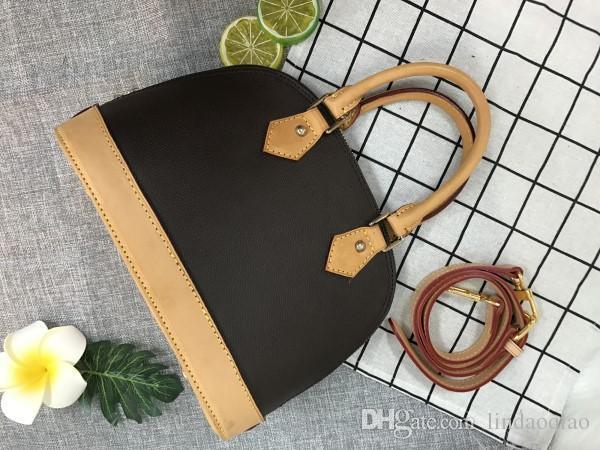 Pelle Alma BB borsa Alma Bag Ossidare borsa di alta qualità borse 100% vera pelle borsa di marca del progettista della borsa della borsa Alma BB bag 25 centimetri
