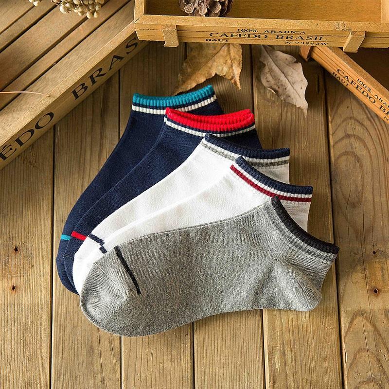 calze a compressione cotone calzini della barca sport primaverili ed estivi Luokou corrispondenza del colore degli uomini