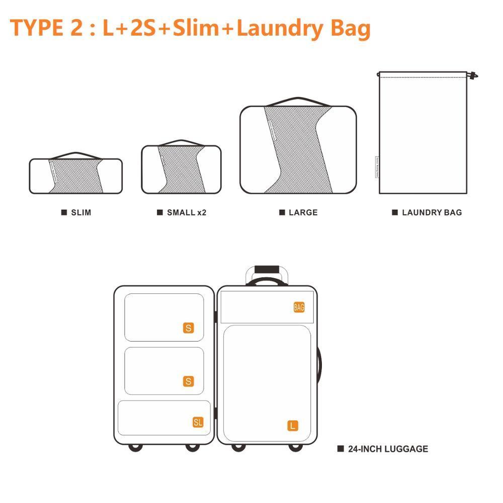 Gonex Viaggi bagagli Bag Set Hanging compressione imballaggio cubi Valigia Deposito Organizzatore Mesh traspirante Nylon personalizzato Zipper