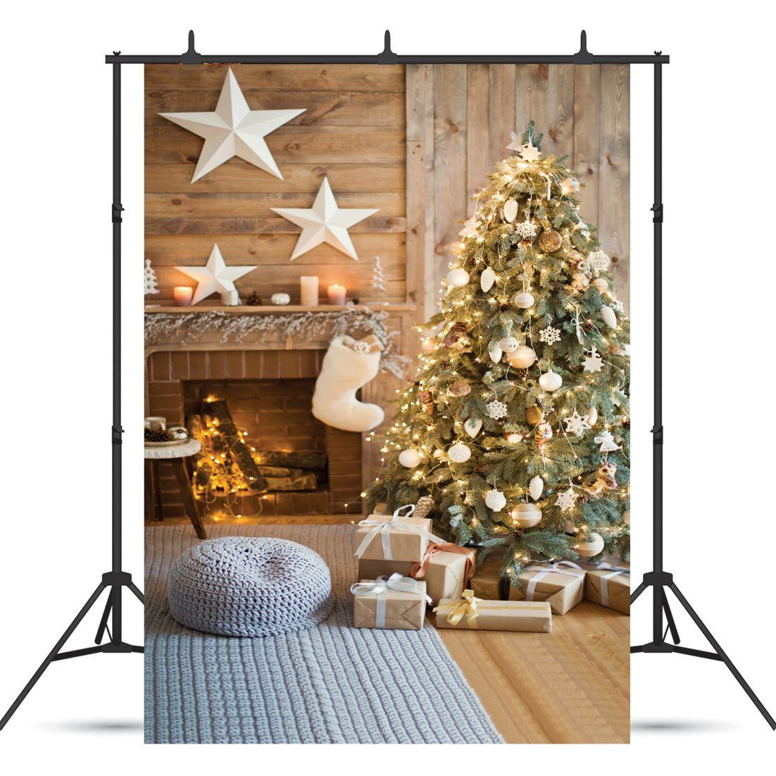 Винил пользовательские фотографии фонов проп цифровой печатный вертикальный Рождество тема фотостудия фон JLT-10837