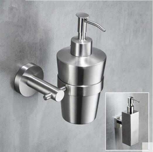 200ML Bathroom Hand Soap Dispenser Liquid Shampoo Storage Bottle Brushed Nickel Chrome Wall Mounted Holder Stainless Steel 304