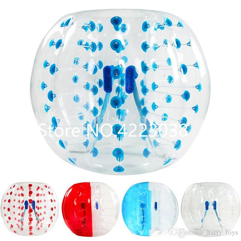 Бесплатная доставка 1.0mm ТП надувного Зорб Болл 1.ого Bubble Футбольного мяч Air Бампер Болл Bubble Футбол для взрослых