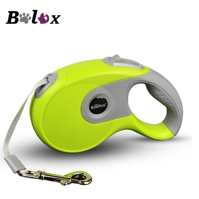 Durable correa del perro de la correa del perro retráctil automático de nylon Extendiendo cachorro Caminar Correr potenciales para perros pequeños Medio