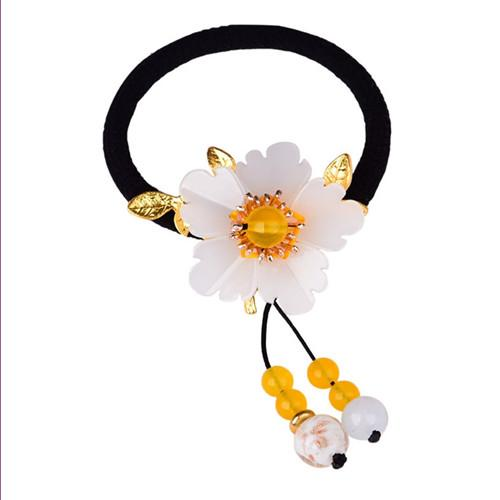 Wholesale 5 Pcs Gold Plated Flower Many Style Colored Glaze for Women Party Gift Hair Jewelry