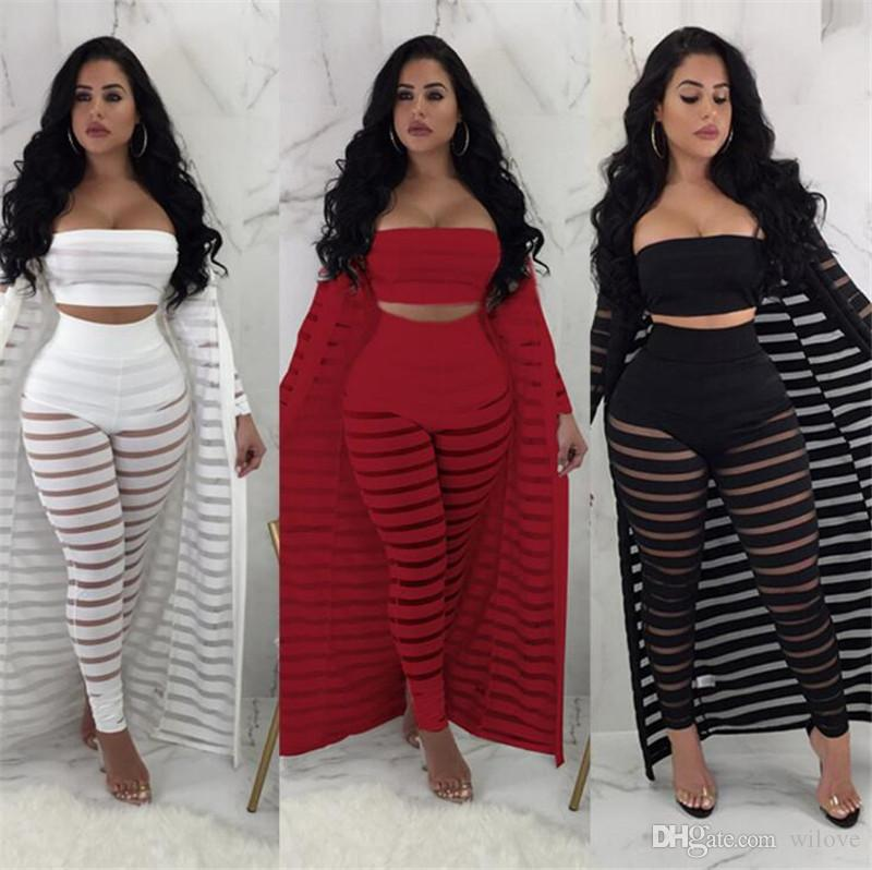 New Summer Sexy Lace 3 Piece Set Tracksuit Women Crop Top And Pants Set 2 Piece Sets Womens Outfits Women Sets Clothes