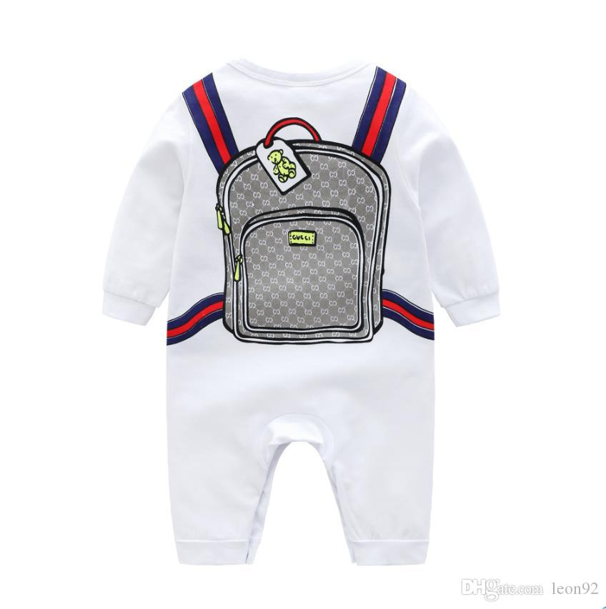الاطفال مصمم الملابس بنين العلامة التجارية G رسالة مخطط طباعة المدرسية وبذلة الوليد الرضيع رومبير فاخر طفلة مصمم الملابس