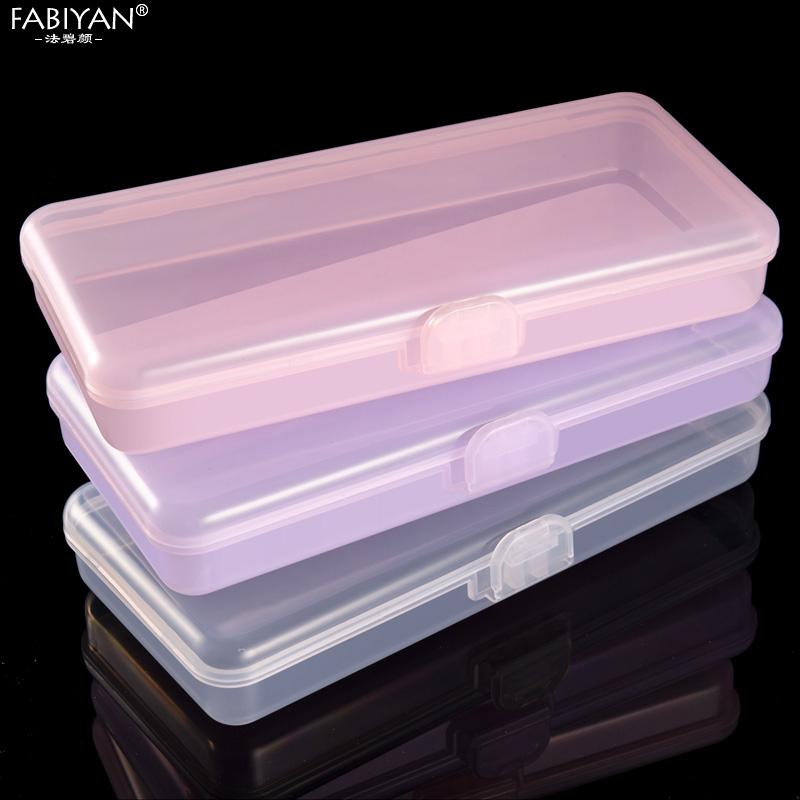 Nail Art & Tools Sets & Kits Rectangle Nail Art Storage Box Tweezers Cuticle Pusher Brushes Cleaning Cotton Pads Plastic Empty Case
