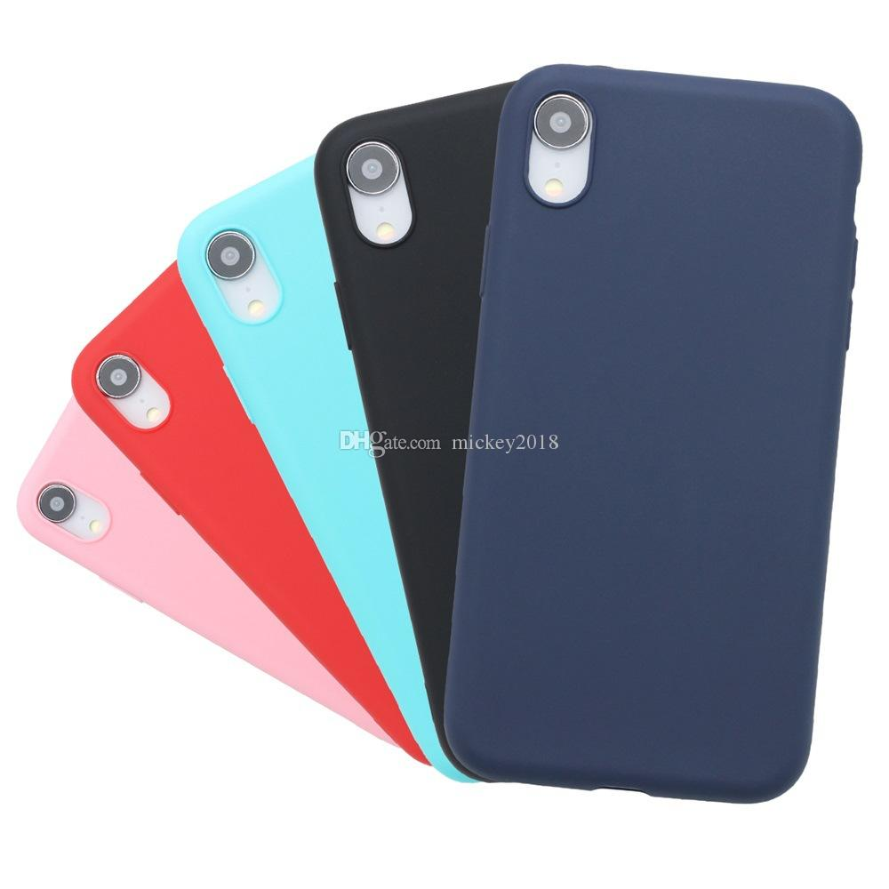 Frosted leather Luxury Leather Soft Gel Rubber Matte Cover Phone Case For iPhone XR XS Max 5 6S 7 Plus 8 plus Cases