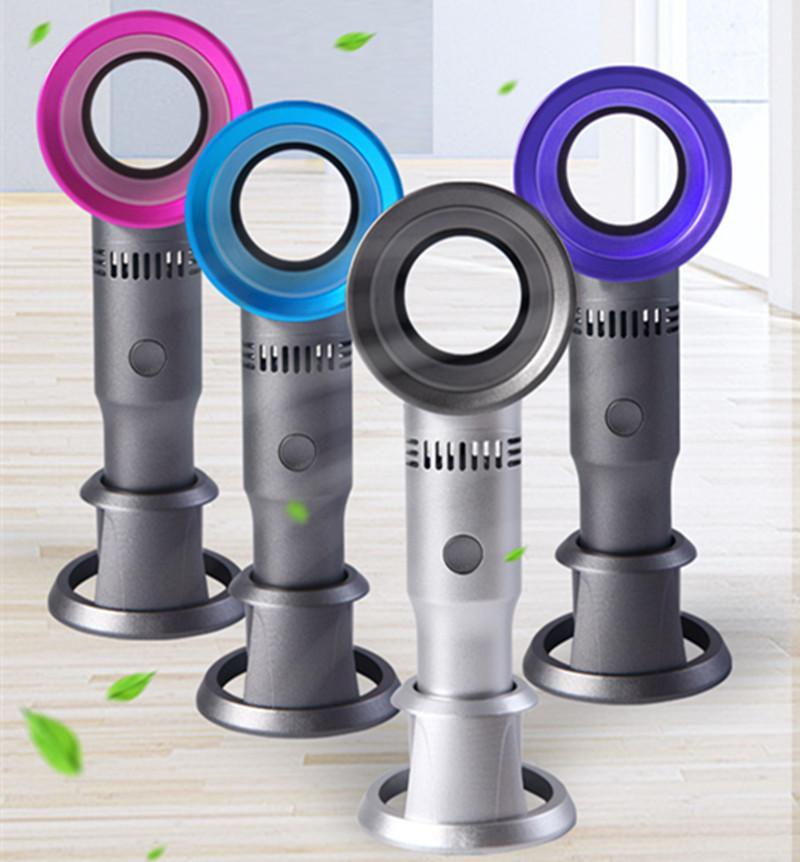 Neueste Backeless Fan X9s Mini Handheld Schreibtisch / Tisch Air Cooler USB Wiederaufladbare abnehmbare Basisventilator mit LED-Ligth-Anzeige