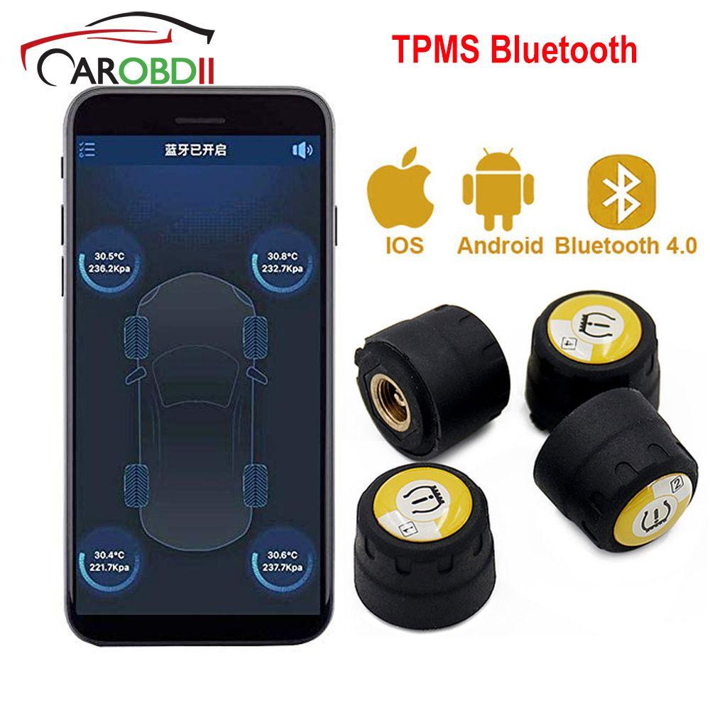 Sistema di monitoraggio della pressione dei pneumatici Bluetooth 4.0 TPMS sistema di allarme Android iOS pressione dei pneumatici con 4 sensori esterni