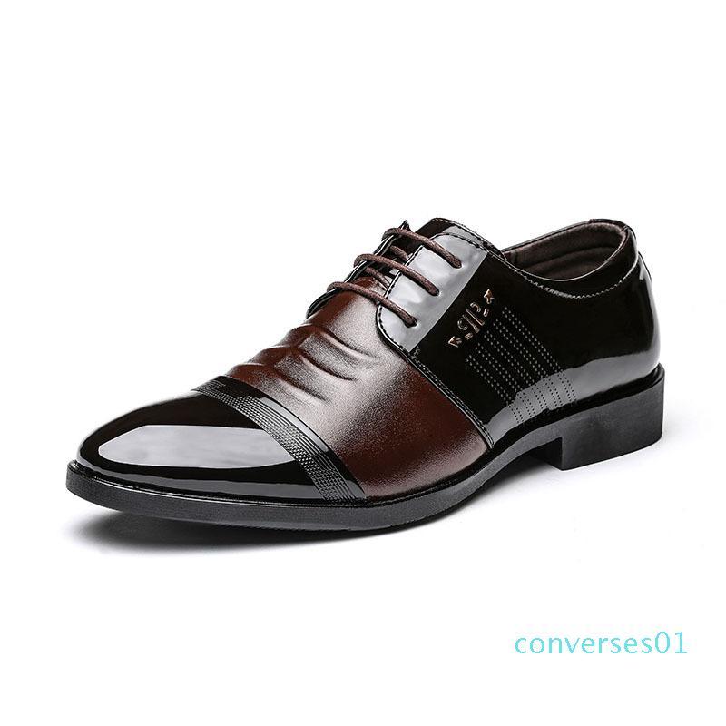 Hot venda- homens escritório homens vestido marrom de couro coiffeur formais elegantes sapatos homens clássico erkek AYAKKABI klasik sapato masculin sociais CO01