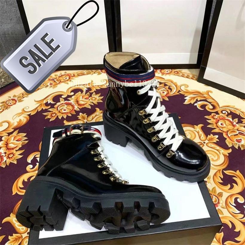 buckleboot la moda Martin botas con bordado de viaje botín de cuero de las mujeres de la caja con Sylvie Web botines para las mujeres Zapatos 2GG9