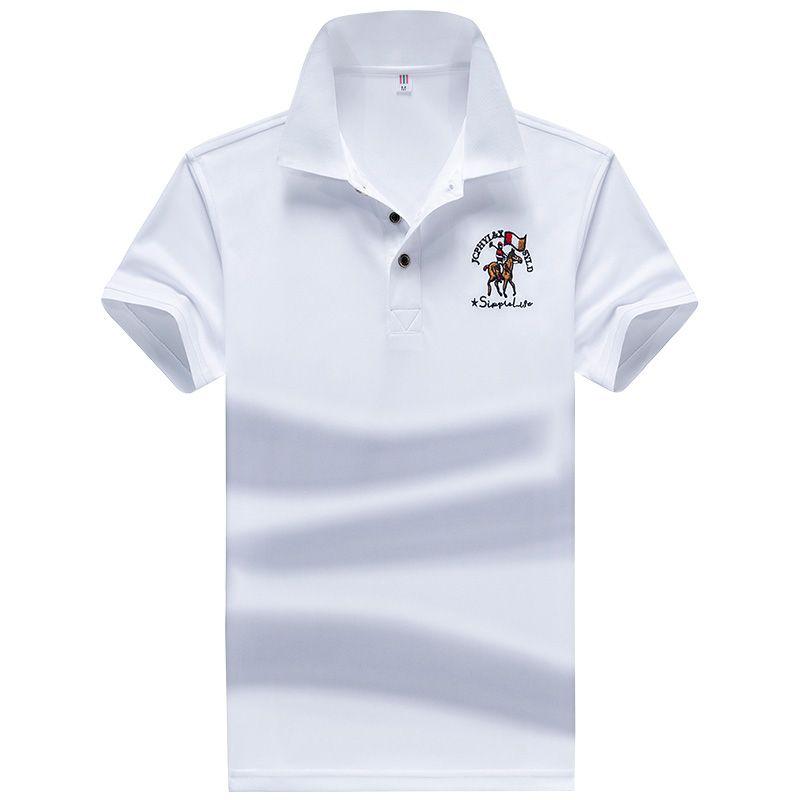 YIHUAHOO Polo camisa dos homens de alta qualidade Homens de algodão de manga curta Verão Marca Jerseys Polos Para Hombre Tamanho M-4XL JCP-731