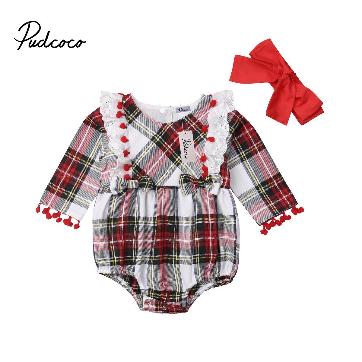 Infant 0-24M Baby Girl Lace manta Tassel Bodysuit Vestuário manga comprida de algodão bonito do partido da princesa roupa