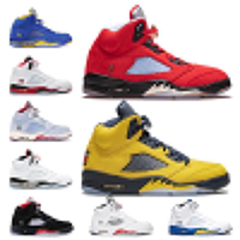 Jumpman 5s Mens scarpe da basket Trophy Room Michigan deserto camo blu ghiaccio Retro PSG x coppie stella rossa Suede 5 Mens Sneaker Sneakers