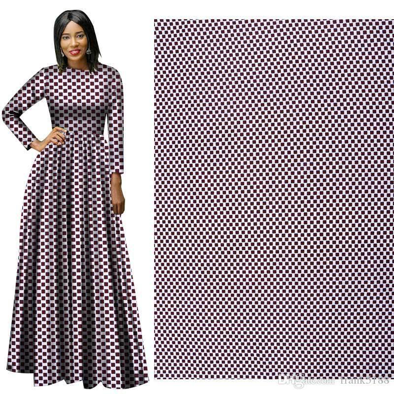 Nuovo arriva tessuto in poliestere quadrato cerato stampe Ankara Binta vera cera tessuto africano di alta qualità 6 metri per abito da festa