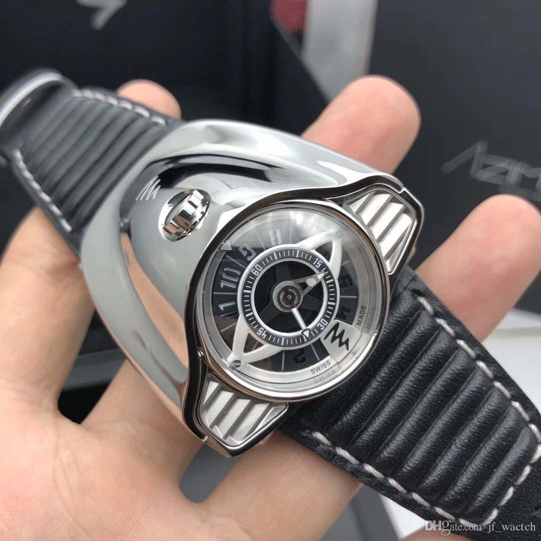 캐주얼 럭셔리 캐주얼 남성 시계 중국 스테인레스 스틸 해골 다이얼 시계 두개골 기계적 움직임 패션 프로 다이버 베젤