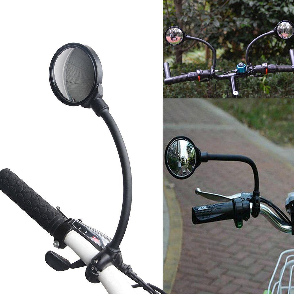 Alta Qualidade Universal 360 Rotate ajustável bicicleta Retrovisor guiador grande angular espelho Ciclismo Vista Traseira MTB bicicleta Dropship