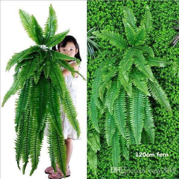 Piante pensili artificiale verde pensile felce erba Piante pianta verde parete artificiale di seta Hedge Grandi Impianti