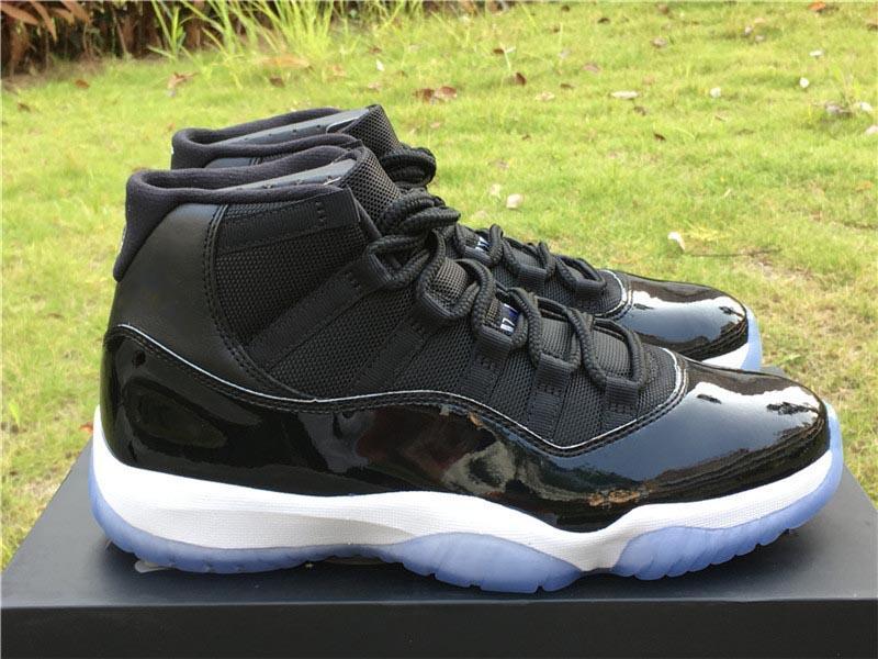 2020 Zapatos de Prensa 11 de atasco del espacio 45 victorias en fibra como 96 82 45 Concord Aire verdadera del carbón baloncesto de los hombres zapatillas de deporte al aire libre con la caja original