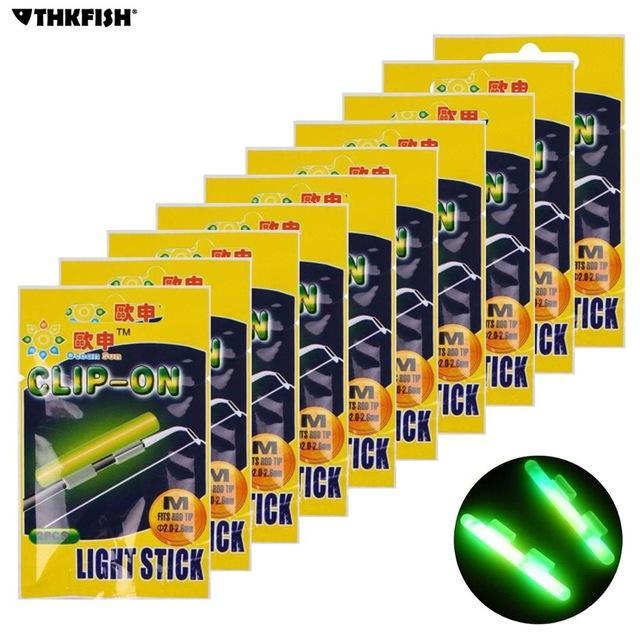 Поплавок Клип On! 20шт (10bags) XL L M Night Fishing Освещение Wand Зеленый химического свечения света палку