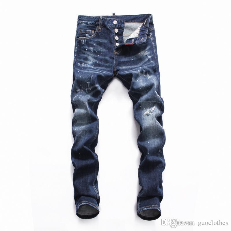 2020 nuovi jeans di marca italia pantaloni in denim da uomo una moda dei jeans del cotone top pantaloni maschili uomini marca famosa dei jeans denim classico