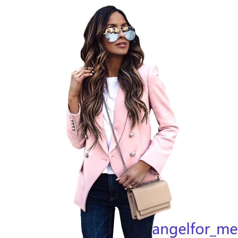 Kadınlar için Sıcak Sonbahar Kış Kalın V yaka Uzun Kollu Ceket