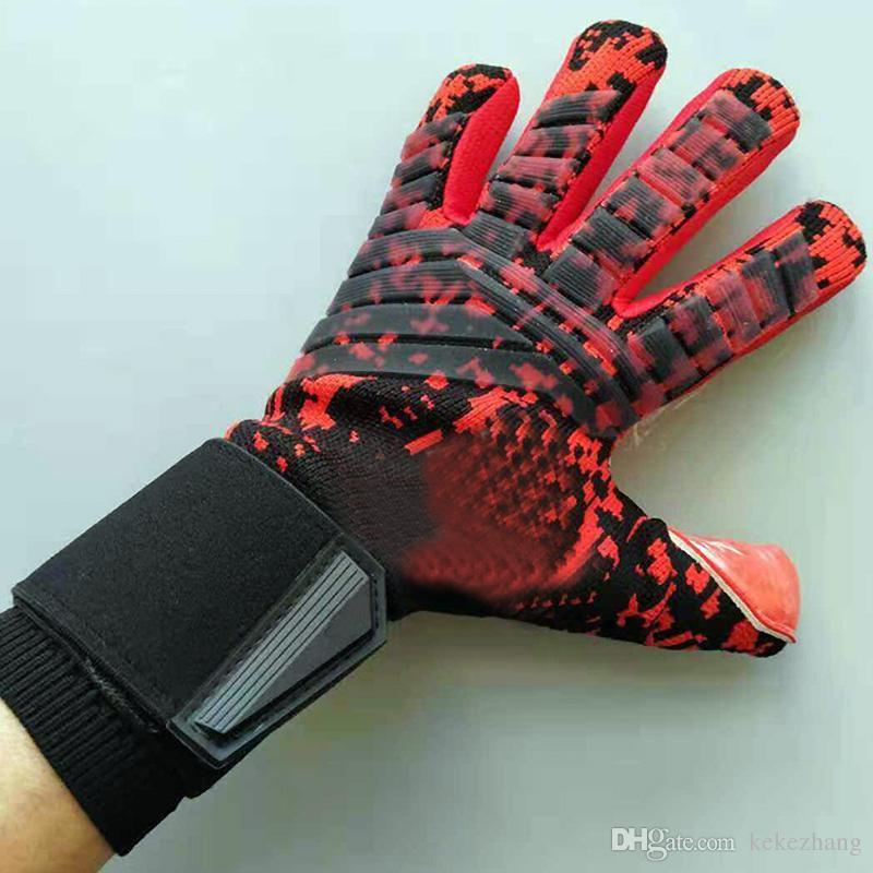 adult professional goalkeeper gloves men's football goalkeeper gloves without thickened finger guard goalie soccer goalkeeper gloves