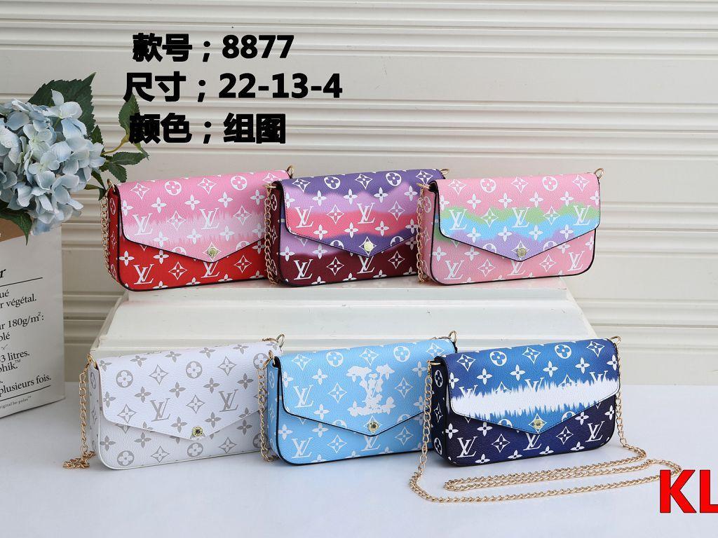Acreditación KL 8877-1 mejor alta calidad del precio de las señoras de bolso de mano individual del bolso del totalizador del hombro mochila cartera